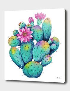 Cactus Drawing, Cactus Painting, Watercolor Cactus, Cactus Art, Cactus Flower, Watercolor And Ink, Flower Art, Cactus With Flowers, Cactus Plants