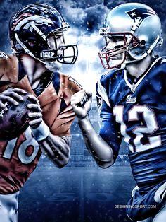 Peyton Manning, Denver Broncos vs. Tom Brady, New England Patriots