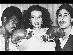 Iris Chacón comparece en pelea de boxeo de Wilfredo Gómez
