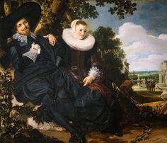 Frans Hals, Huwelijksportret van Isaac Massa & Beatrix van der Laen.