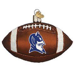 Duke University Football Christmas Ornament