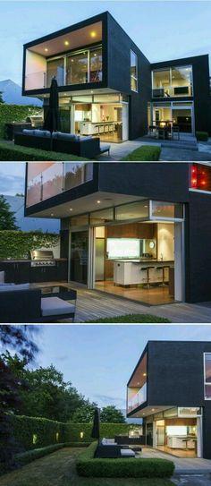 black such a beautiful colour modern house designhome design - 3d Home Designer