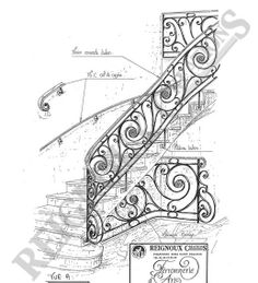A sketch of some of Karig's work // Ferronnerie d'art - Reignoux Créations - Maison fondée en 1955