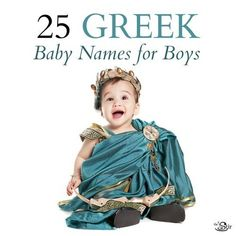 These Greek baby names for boys are stunning! Click to find out the meaning of the Greek names on this list!