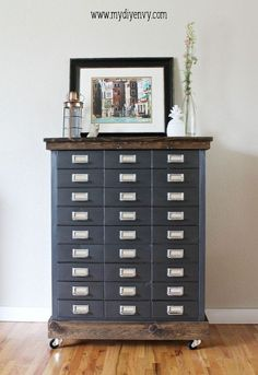 farmhouse style filing cabinet makeover, kitchen cabinets, kitchen design