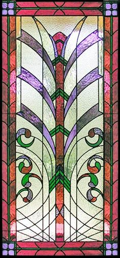 Art Deco Style Leaded Stained Glass window custom designed for the entry of the Zraick, Nahas, and Rich Law firm, New York City, New York.