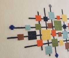 Cross Stitch Floss, Cross Stitch Patterns, Cross Stitch Geometric, Geometric Art, Cross Stitch Cushion, Hand Embroidery Stitches, Needlepoint Kits, Baby Knitting Patterns, Cross Stitching