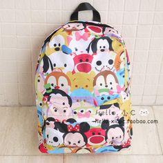 New Fashion IT CHOCOOLATE X DISNEY TSUM TSUM Backpack School Bag Travel Bag 38cm