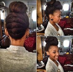 Super cute protective style! Nicollette // Transitioning Natural Hair Style Icon