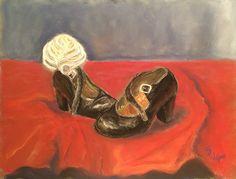 Little flamenco shoes . Pastel painting