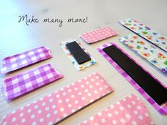 Washi tape magnet. Easy little project.
