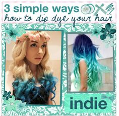 """&&+ 3 simple ways how to dip dye your hair at home(:"" by just-girly-tips ❤ liked on Polyvore"