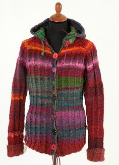 Handmade knitted Jacket for Female or male. $200.00, via Etsy.
