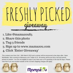 Enter our giveaway to win a pair of freshlypicked moccs!  Last day to enter!!
