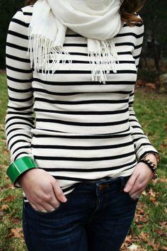 navy stripes  kelly green