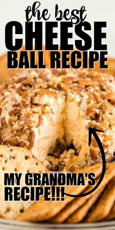Oct 2019 - This cheese ball recipe is the ultimate classic party appetizer and is coming to you straight from my Southern grandma's old recipe box. This quick and easy savory snack is yummy with your favorite crackers, bread, or veggies. Christmas Cheese Ball Recipe, Best Cheese Ball Recipe, Cheese Ball Recipes, Cheese Ball Recipe With Old English Cheese, Pumpkin Cheese Ball Recipe, Cheese Dips, Appetizers For Party, Appetizer Recipes, Quick And Easy Appetizers