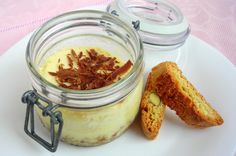 Limoncello Ricotta Cheesecake-in-a-jar with Hazelnut Chocolate Splinters (Pressure Cooker Recipe)