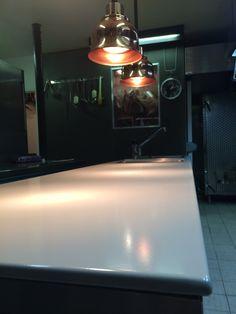 Plan de travail en acier émaillé.  Couleur: Fleur de Sel  Finition: Mat #kitchen #cuisine #innovation #matériau #exclusif