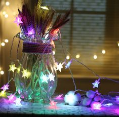 Home & Garden New Fashion Lber 1pcs 2.5m 20led Fairy String Light Dandelion Shaped Curtain Lamp Party Wedding Outdoor Decor Festival Led Fairy Light Mul Beautiful In Colour