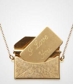 #Fredflare                #love                     #Love #Letter #Locket #Necklace                     Love Letter Locket Necklace                                                   http://www.seapai.com/product.aspx?PID=593767