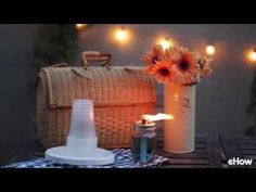 Whether you're camping in the woods or enjoying your backyard on a summer evening, citronella tiki torches are perfect for lighting and keeping the bugs away. The mason jars give the torches a charming vintage feel, so they are as stylish as they are useful. You can make them either to sit on a table, or hang from a hook. Either way, they make the great outdoors even greater. [WATCH THE VIDEO