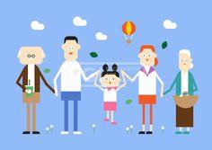 SILL211, 가정의달, 가족, 패밀리, 벡터, 에프지아이, 생활, 라이프, 사람, 캐릭터, 단체, 엄마, 아빠, 딸, 할머니, 할아버지…
