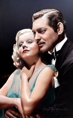 """Jean Harlow and Clark Gable in """"The Hokey Pokey Man and An Insane Hawker of Fish"""" by Connie Durand."""