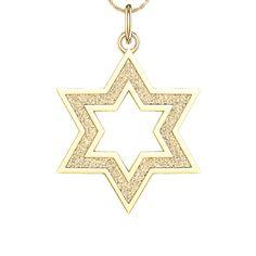 DiamondCut Star of David Charm in 10K Gold View All PAGODA