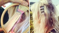 Would you weave this into your hair?