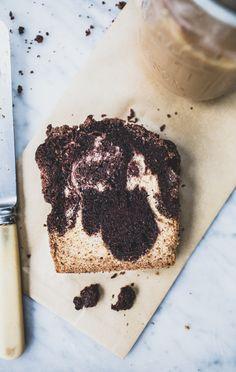 Triple Chocolate-Vanilla Swirl Crumb Cake
