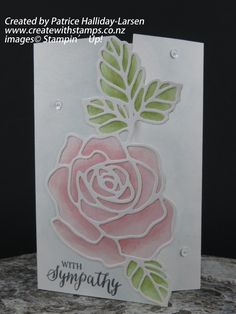 Create With Stamps - Patrice Halliday-Larsen, independent Stampin' Up… Fun Fold Cards, Beautiful Handmade Cards, Stamping Up Cards, Get Well Cards, Pretty Cards, Sympathy Cards, Paper Cards, Flower Cards, Greeting Cards Handmade