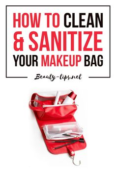 How to clean & sanitize your makeup bag. It's time to get rid of those nasty germs from your makeup bag with this easy cleaning method: http://www.beauty-tips.net/how-to-clean-sanitize-your-makeup-bag-or-purse/