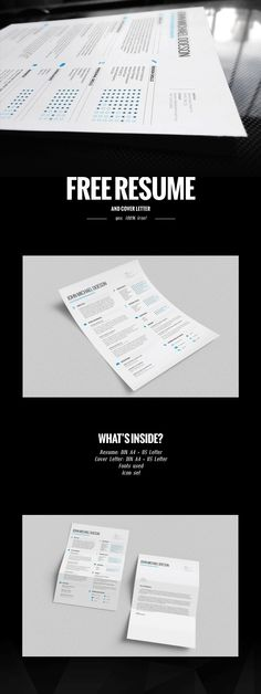 FREE Resume + Cover Letter! | via http://goo.gl/3y4GMD #freebie
