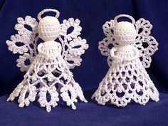 Pretty crocheted angels--possibly good Christmas ornaments if I can muster up the patience to make them! My sweet Mom used to make these for me! Crochet Angel Pattern, Crochet Angels, Crochet Motifs, Thread Crochet, Crochet Patterns, Cute Crochet, Crochet Crafts, Yarn Crafts, Crochet Projects