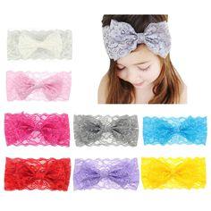 8pcs Kids Baby Girl Cute Headscarf Ear Headband Headwear Hair Band Accessories