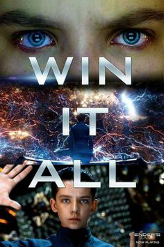 Ender's Game!! his eyes in the first pic look so bloodshot!!!! its kinda gross..... lol but I love him