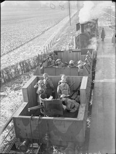 Unlike the combatants on the Eastern Front, armoured trains saw minimal usage with the Western Allies. Perhaps the most notable use by the British were the 13 trains which patrolled the British coast as part of the defence scheme against the German invasion that never came. Many of them, including the example here, were armed by Free Polish Forces.