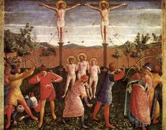 1440 Saint Cosmas and Saint Damian Crucifixed and Stoned - Fra Angelico