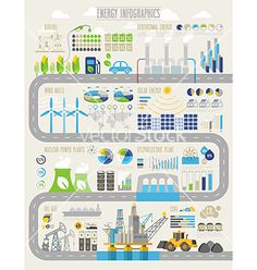 Energy and ecology infographic set vector - by aviany on VectorStock®