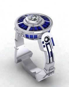 SOMEONE SHOW THIS TO MY HUSBAND!!! Adorkable R2-D2 Ring