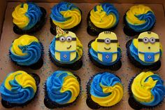 Despicable Me Minion Cupcakes - - Cake in Cup NYYou can find Minion cupcakes and more on our website.Despicable Me Minion Cupcakes - - Cake in Cup NY Despicable Me Cupcakes, Minion Cupcakes, Cupcake Cakes, Cupcake Ideas, Minion Birthday, Minion Party, Geek Birthday, 3rd Birthday, Birthday Cakes