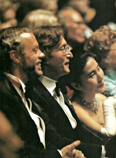 John Lennon, Yoko Ono at a gala given in honour of president Jimmy Carter