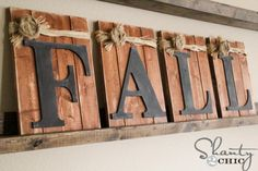 Fall Decorating Pallets and Chalkboards - Shanty 2 Chic