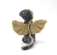 Here is a fun modification of my Wee Woodland Wuzzies pattern: a Wee Dragon! To make this toy, you will need a copy of that pattern *, pl...