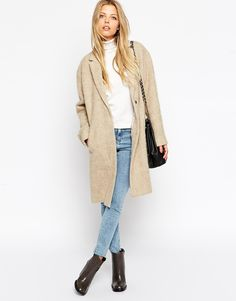 Coat in Brushed Fabric! Now on http://ootdmagazine.com/store/product/coat-brushed-fabric/ #fashion