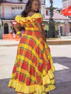 Robe Madras FEMME créole, antillais Diese - Dodyshop