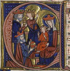 la présentation du Christ aux Rois Mages ... (Graduel de Fontevrault, dit d'Aliénor de Bretagne, il est certainement la pièce la plus exceptionnelle conservée à la bibliothèque municipale de Limoges