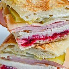 Turkey Cranberry Cuban Style Sandwich. http://thecountrycook.ziplist.com/souschef?url=http%3A%2F%2Fwww.closetcooking.com%2F2010%2F10%2Froast-turkey-cuban-sandwich.html