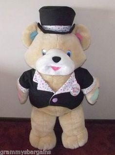 "Birthday Teddy Bear 42"" American Greetings Top Hat Tuxedo Plush Stuffed Animal"