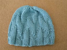 The first hat for this week is a new design.  I really enjoyed this pattern - it's very simple and yet quite interesting visually.  I knit ...